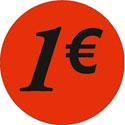 """Gommettes adhésives """"1€"""""""