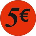 """Gommettes adhésives """"5€"""""""