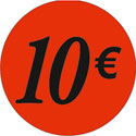 """Gommettes adhésives """"10€"""""""