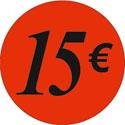 """Gommettes adhésives """"15€"""""""