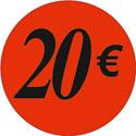 """Gommettes adhésives """"20€"""""""