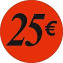 """Gommettes adhésives """"25€"""""""