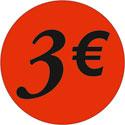 """Gommettes adhésives """"3€"""""""