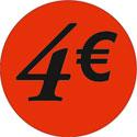 """Gommettes adhésives """"4€"""""""