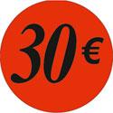 """Gommettes adhésives """"30€"""""""