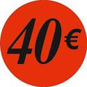 """Gommettes adhésives """"40€"""""""