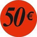 """Gommettes adhésives """"50€"""""""