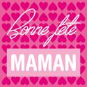 """Étiquettes cadeaux adhésives """"Bonne fête Maman"""""""