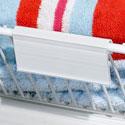 Porte étiquette pour panier fil