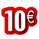 """Carton découpé """"10€"""""""