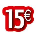 """Carton découpé """"15€"""""""