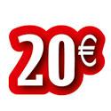 """Carton découpé """"20€"""""""