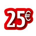 """Carton découpé """"25€"""""""