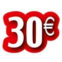 """Carton découpé """"30€"""""""