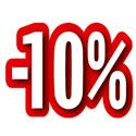 """Carton découpé """"-10%"""""""