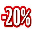 """Carton découpé """"-20%"""""""