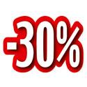 """Carton découpé """"-30%"""""""