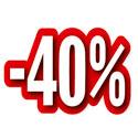 """Carton découpé """"-40%"""""""