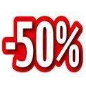 """Carton découpé """"-50%"""""""