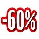 """Carton découpé """"-60%"""""""