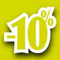 """Affiche """"-10%"""""""