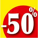 """Affiche """"-50%"""""""