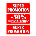 """Guirlande carton """"Super promotion -50% sur le 2ème article"""""""