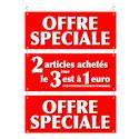 """Guirlande carton """"Offre spéciale 2 articles achetés le 3ème est à 1 euro"""""""