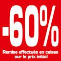 """Affiche """"-60%"""""""