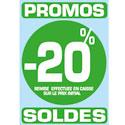 """Sticker """"Promos - Soldes -20%"""""""