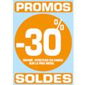 """Sticker """"Promos - Soldes -30%"""""""