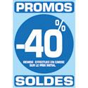 """Sticker """"Promos - Soldes -40%"""""""