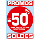 "Stickers ""Promos - Soldes -50%"""