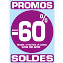 "Stickers ""Promos - Soldes -60%"""