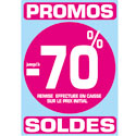 "Stickers ""Promos - Soldes -70%"""