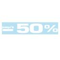 """Sticker """"Jusqu'à -50%"""""""