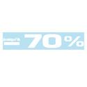 """Sticker """"Jusqu'à -70%"""""""