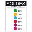 """Affiche """"Soldes"""" code couleurs"""
