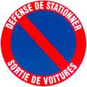 "Disque ""Stationnement interdit"""