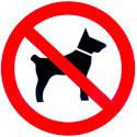 "Plaque de signalisation ""Interdit aux chiens"""