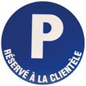"""Disque """"Parking réservé à la clientèle"""""""