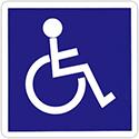 """Pictogramme adhésif """"Handicapé"""""""