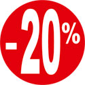 """Gommettes adhésives """"-20%"""""""