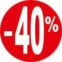 """Gommettes adhésives """"-40%"""""""