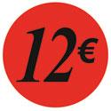 """Gommettes adhésives """"12€"""""""