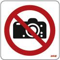 """Pictogramme adhésif """"Interdit aux photos"""""""