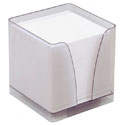 Bloc cube papier + boîtier plexi