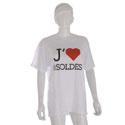 """T-shirt """"J'aime les soldes"""""""