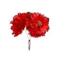 Bouquet de fleurs sur clip