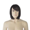 Perruque femme cheveux mi-longs avec frange
